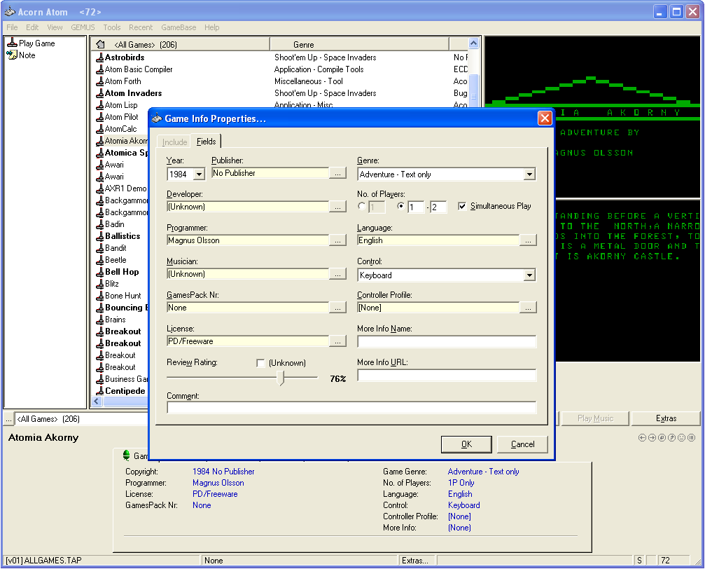 GameBase - Universal Emulator frontend and Database Utility